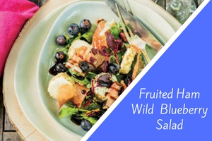 Fruited Ham Wild Blueberry Salad