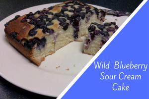 Wild Blueberry Sour Cream Cake