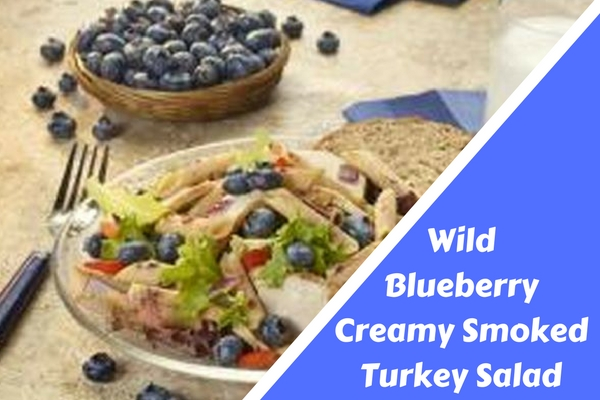 Wild Blueberry Creamy Smoked Turkey Salad