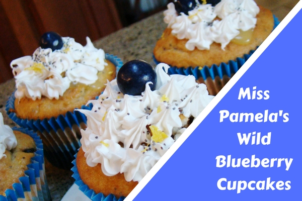 Miss Pamela's Wild Blueberry Cupcakes.