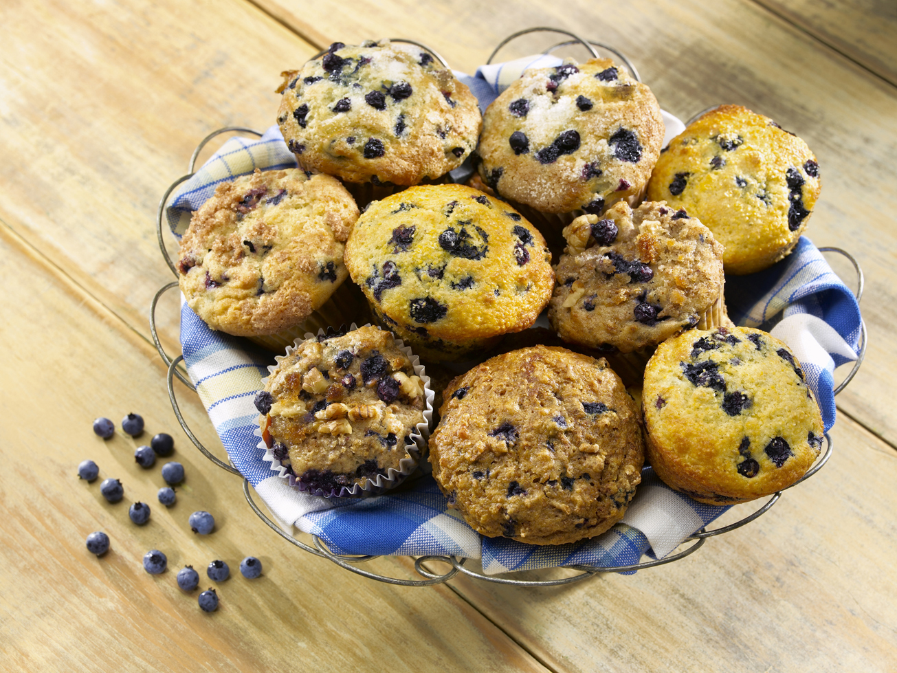 Aunt Mary's Wild Blueberry Muffins