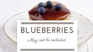 Avoid Blueberry Flavoured Foods