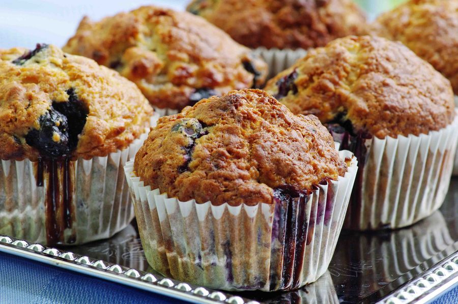 Wild Blueberry Banana Muffins