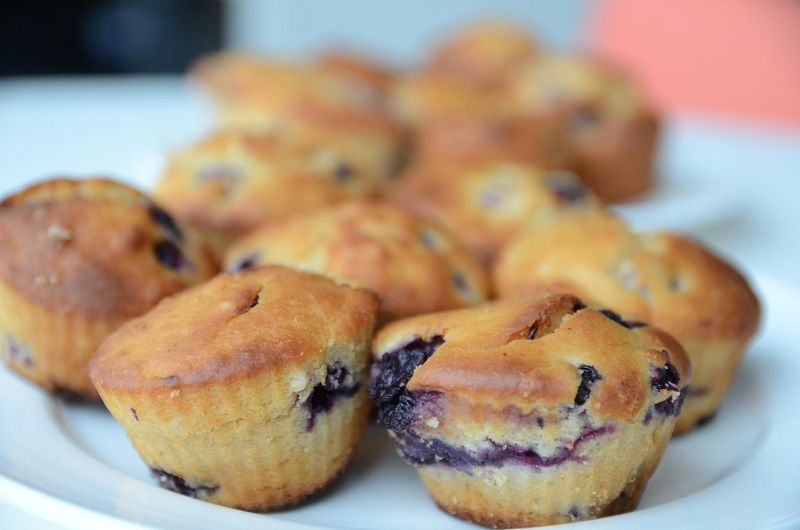 Wild Blueberry Lemon Muffins