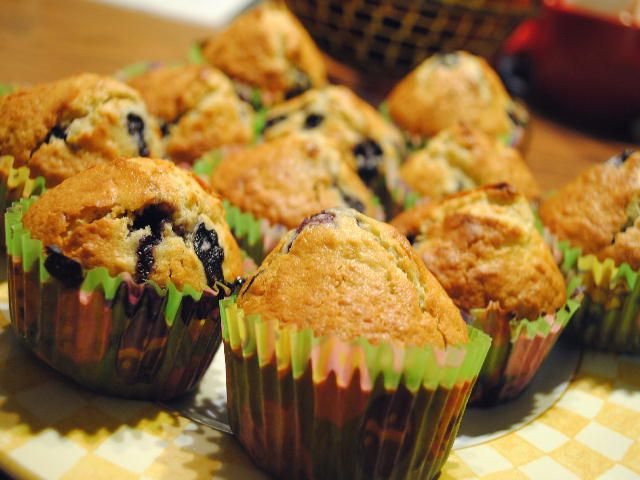 Wild Blueberry Oat Muffins