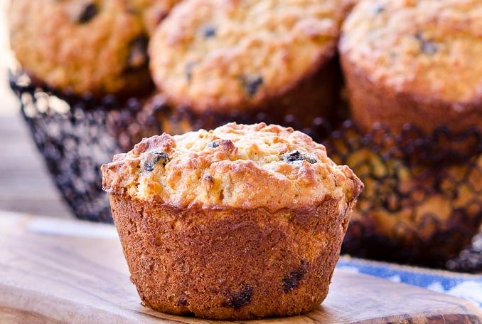 Wild Blueberry Peach Muffins