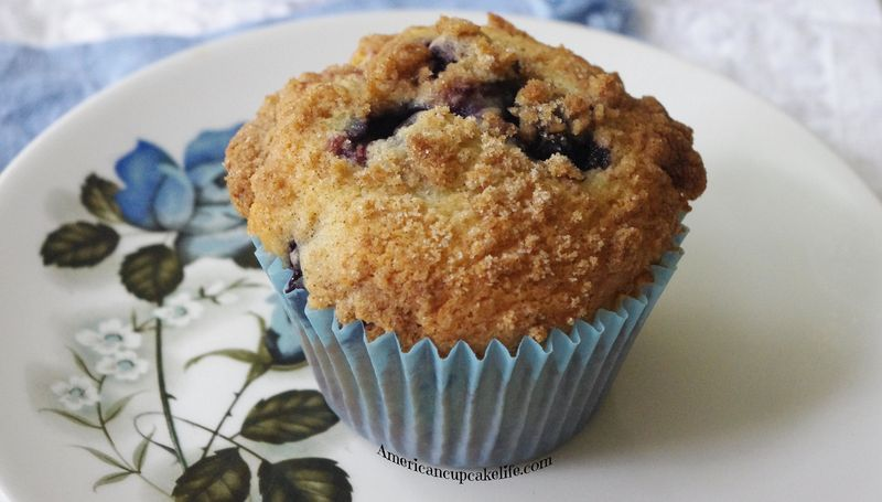 Streusel Topped Wild Blueberry Muffins