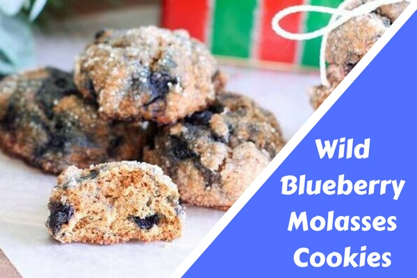 Wild Blueberry Molasses Cookies