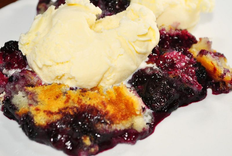 Mapled Cream Wild Blueberry Cobbler