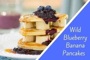 Wild Blueberry Banana Pancakes