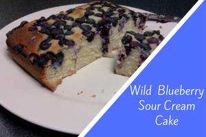 Wild Blueberry Sour Cream Cake