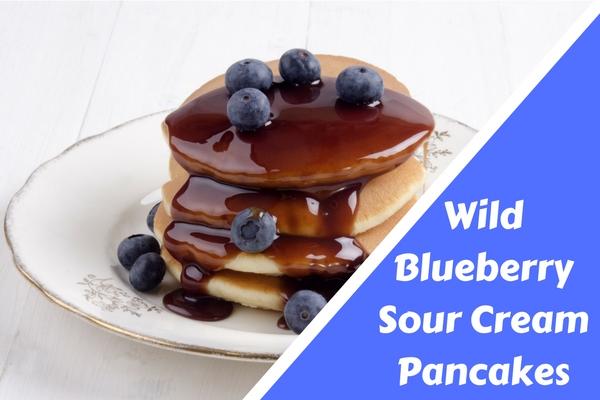Wild Blueberry Sour Cream Pancakes