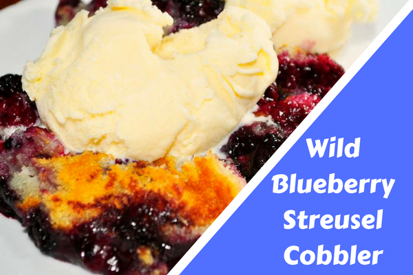 Wild Blueberry Streusel Cobbler