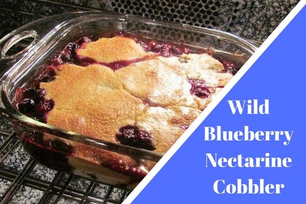 Wild Blueberry Nectarine Cobbler