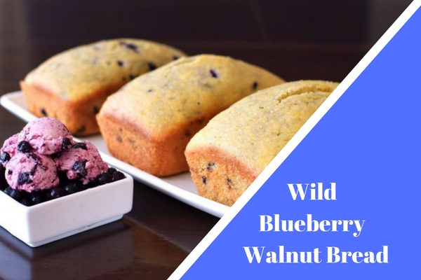 Wild Blueberry Walnut Bread