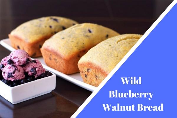 Wild Blueberry Walnut Bread