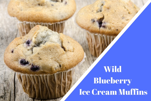 Wild Blueberry Ice Cream Muffins