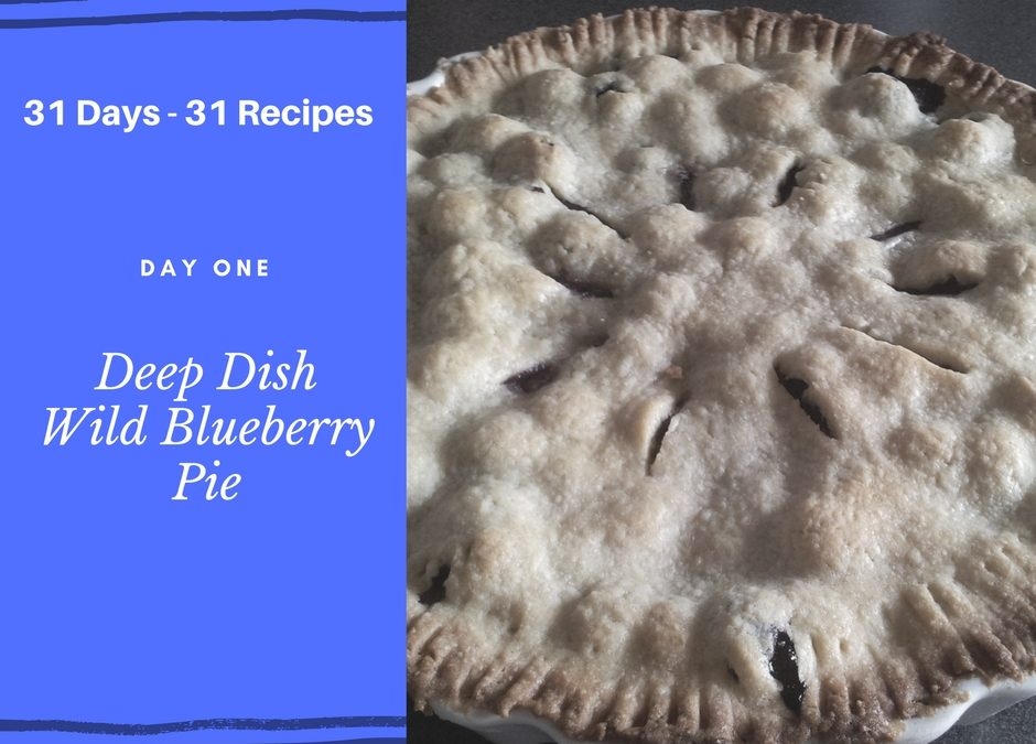 Deep Dish Wild Blueberry Pie