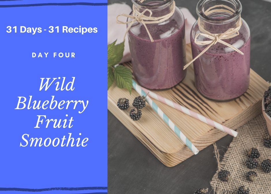 Wild Blueberry Fruit Smoothie