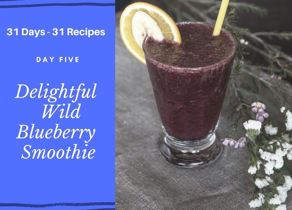 Delightful Wild Blueberry Smoothie