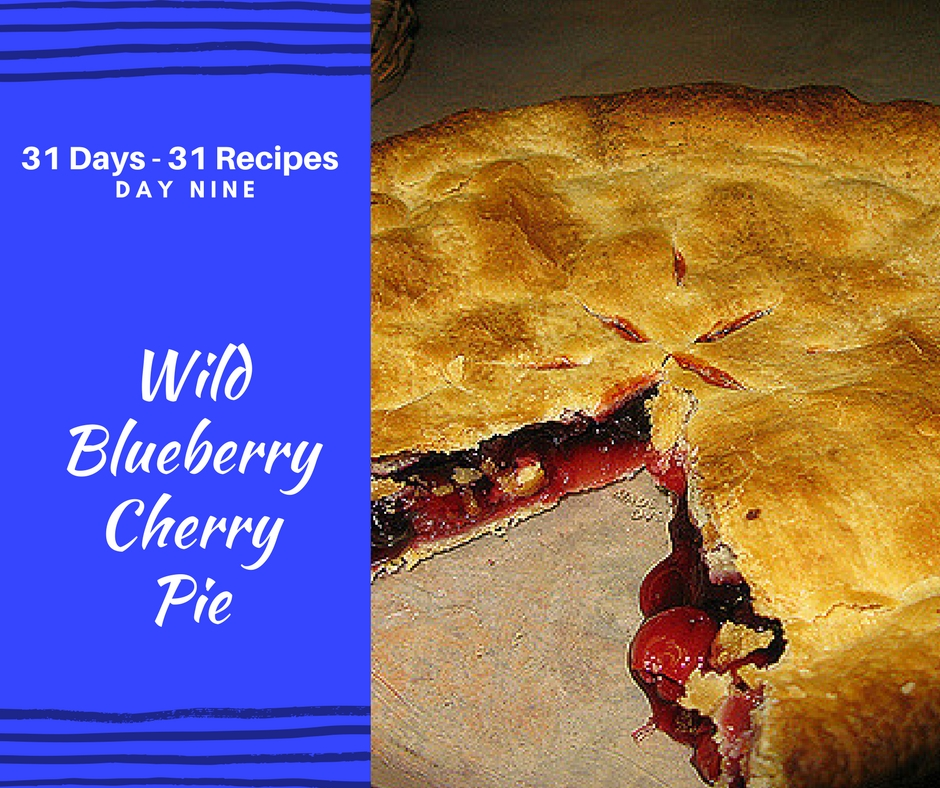 Wild Blueberry Cherry Pie