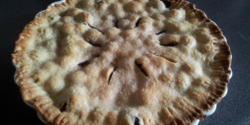 Classic Wild Blueberry Pie
