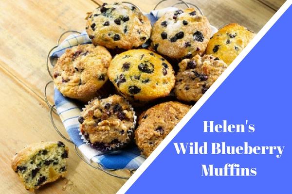 Helen's Wild Blueberry Muffins
