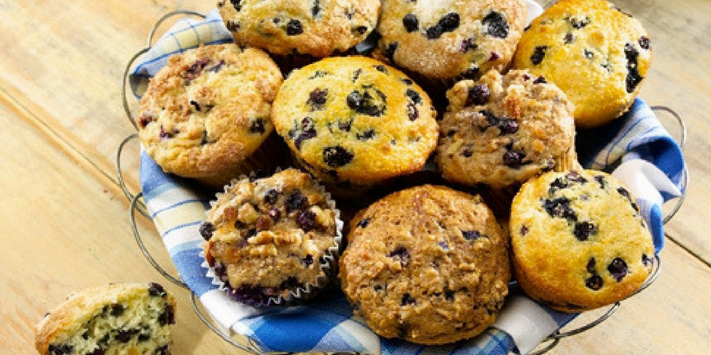 Health Nut Wild Blueberry Muffins