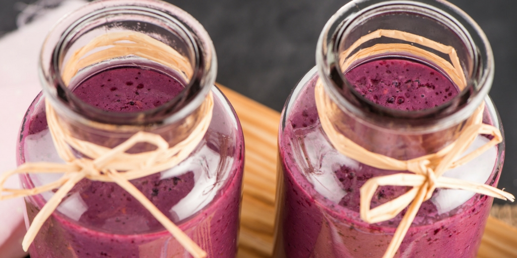 Delightful Wild Blueberry Smoothie