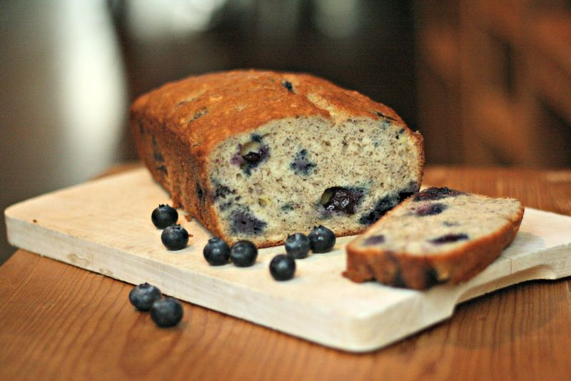 Wild Blueberry Banana Bread