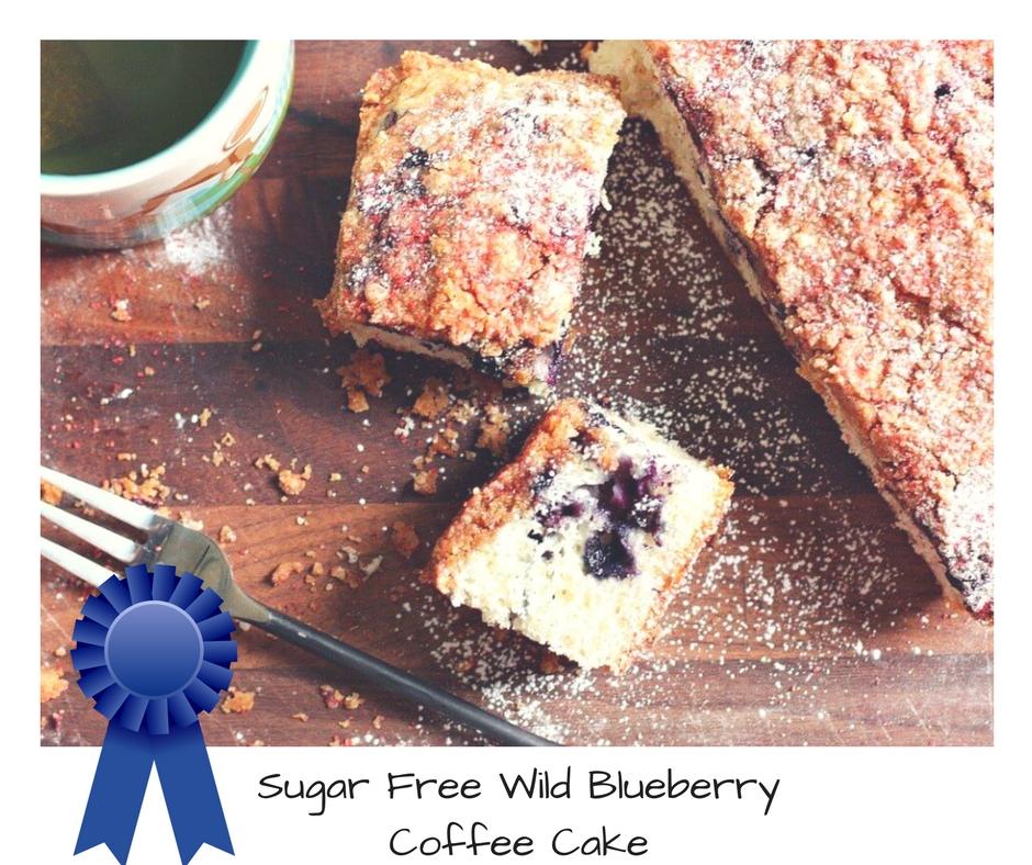 Sugar Free Wild Blueberry Coffee Cake