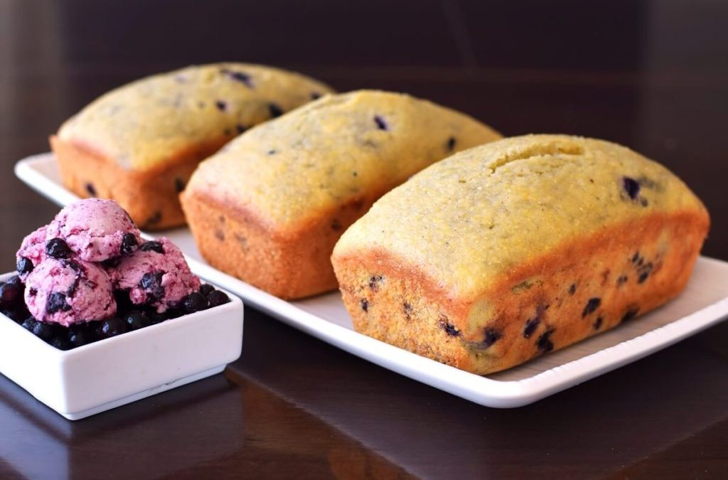 Wild Blueberry Pudding Loaf