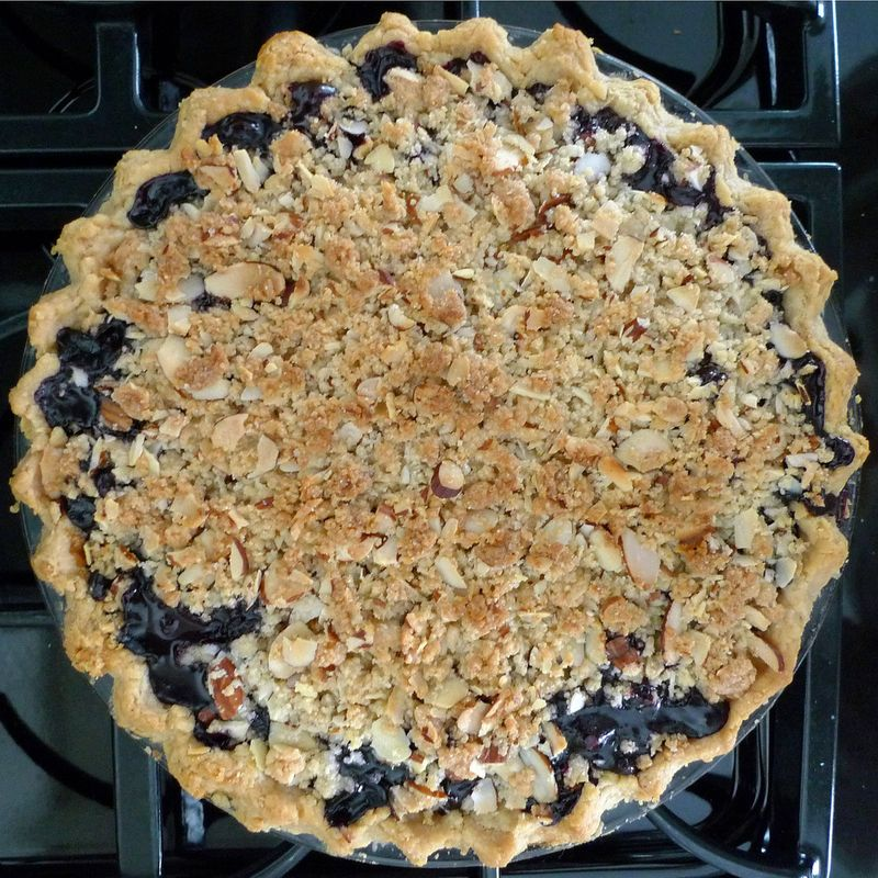 Wild Blueberry Crumb Pie