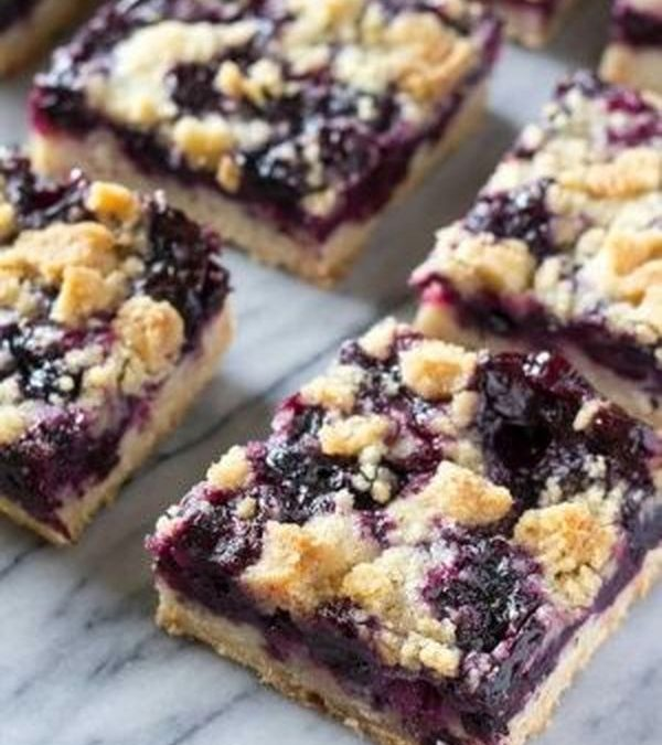 Cake Topped Wild Blueberry Dessert