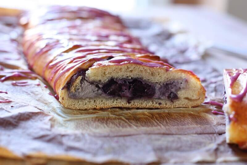 Wild Blueberry Braided Breakfast Bread