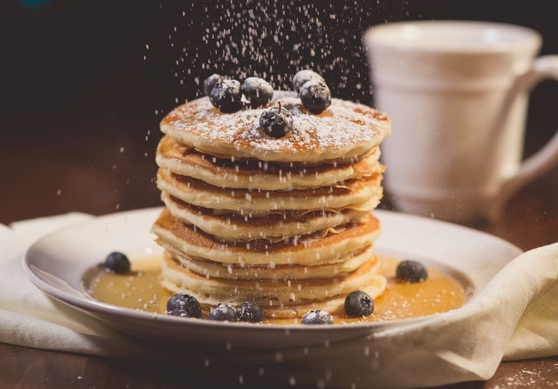 Wild Blueberry Sour Cream Pancakes