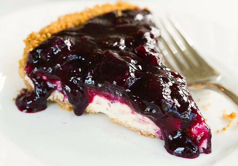 Sunny Days Wild Blueberry Cheesecake Pie
