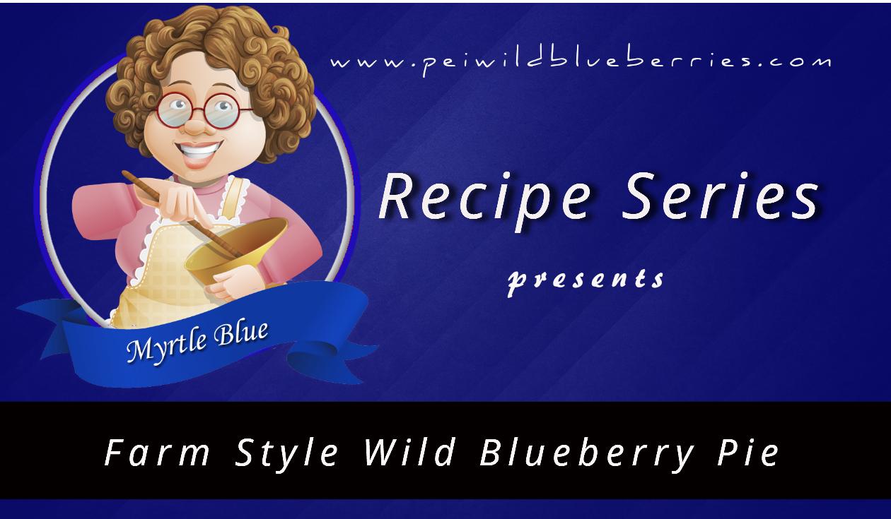 Farm Style Wild Blueberry Pie