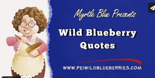 Wild Blueberry Quotes