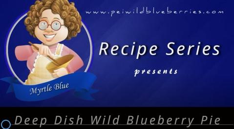Deep Dish Wild Blueberry Pie