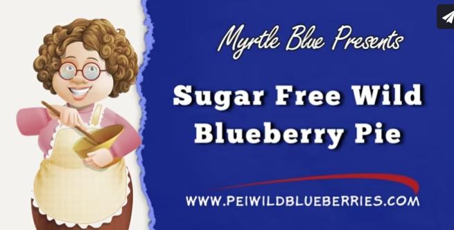 Sugar Free Wild Blueberry Pie