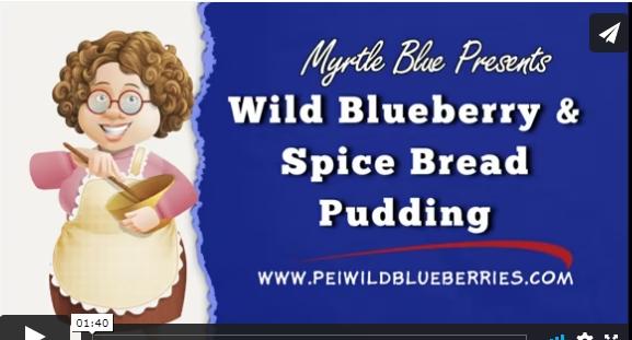 Wild Blueberry Spice Bread Pudding