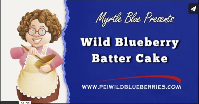 Wild Blueberry Batter Cake