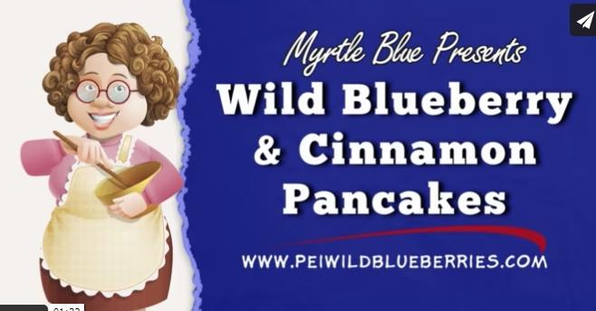 Wild Blueberry Cinnamon Pancakes